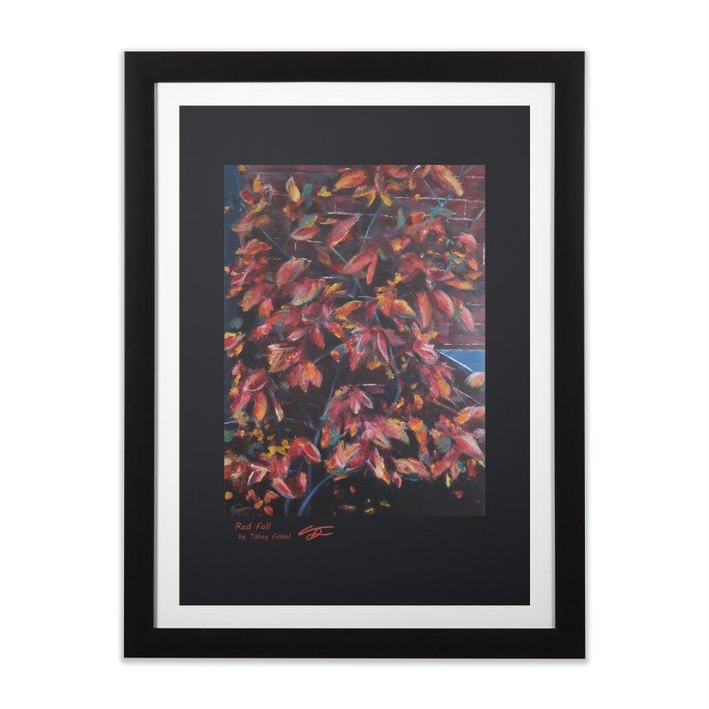 Red Fall Home Framed Fine Art Print by Tobey Finkel's Artist Shop