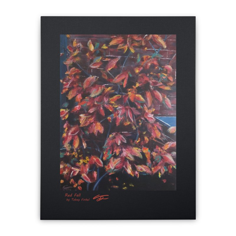 Red Fall Home Stretched Canvas by Tobey Finkel's Artist Shop