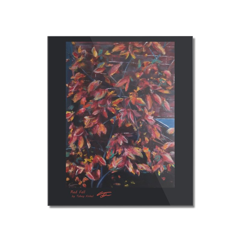 Red Fall Home Mounted Acrylic Print by Tobey Finkel's Artist Shop