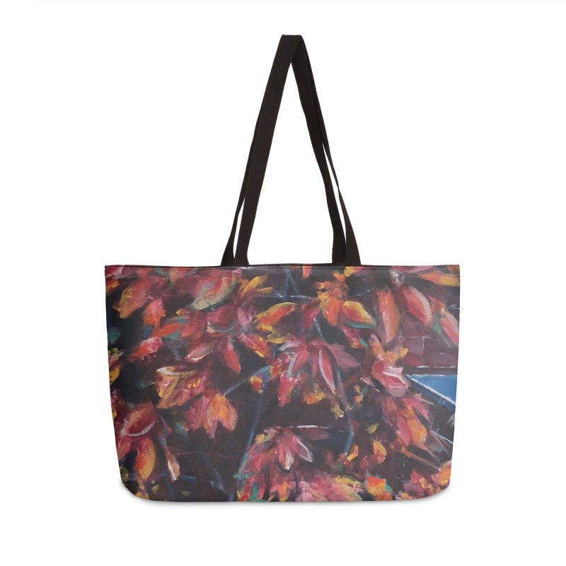 Red Fall Accessories Bag by Tobey Finkel's Artist Shop