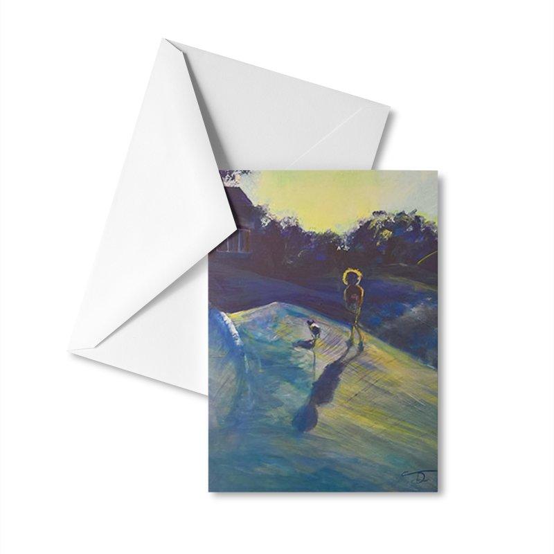 Sunset Walk Accessories Greeting Card by Tobey Finkel's Artist Shop