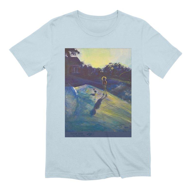 Sunset Walk Men's Extra Soft T-Shirt by Tobey Finkel's Artist Shop