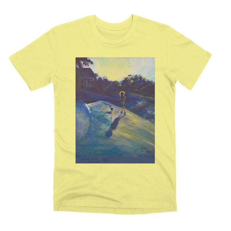 Sunset Walk Men's Premium T-Shirt by Tobey Finkel's Artist Shop