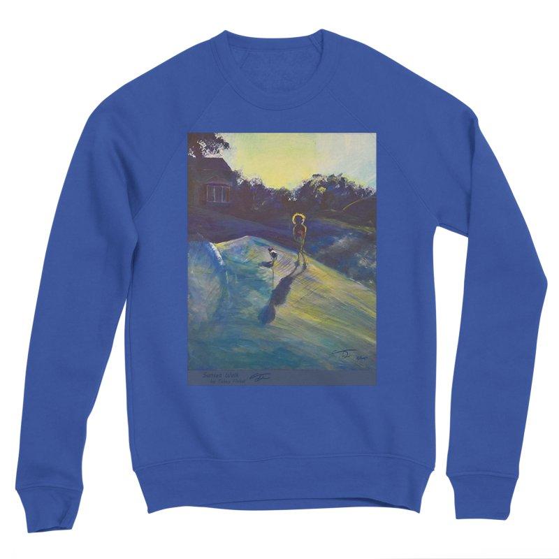 Sunset Walk Women's Sponge Fleece Sweatshirt by Tobey Finkel's Artist Shop