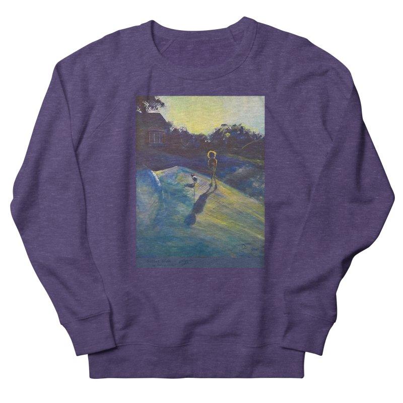 Sunset Walk Women's French Terry Sweatshirt by Tobey Finkel's Artist Shop