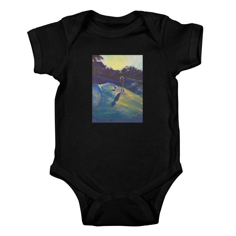 Sunset Walk Kids Baby Bodysuit by Tobey Finkel's Artist Shop