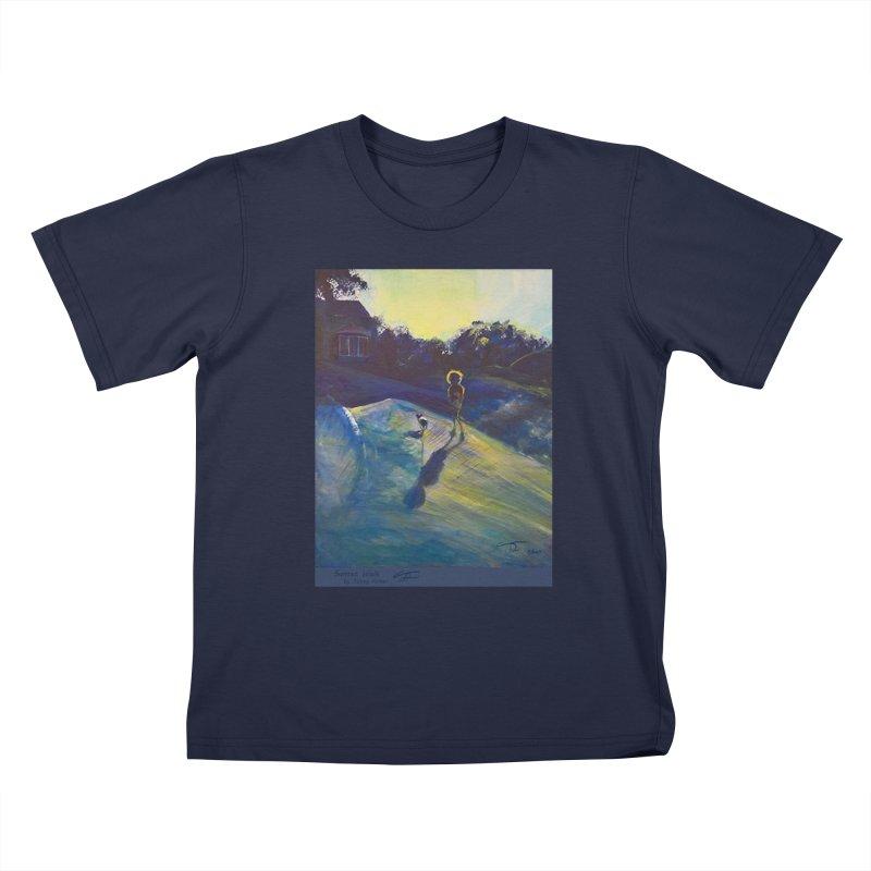 Sunset Walk Kids T-Shirt by Tobey Finkel's Artist Shop