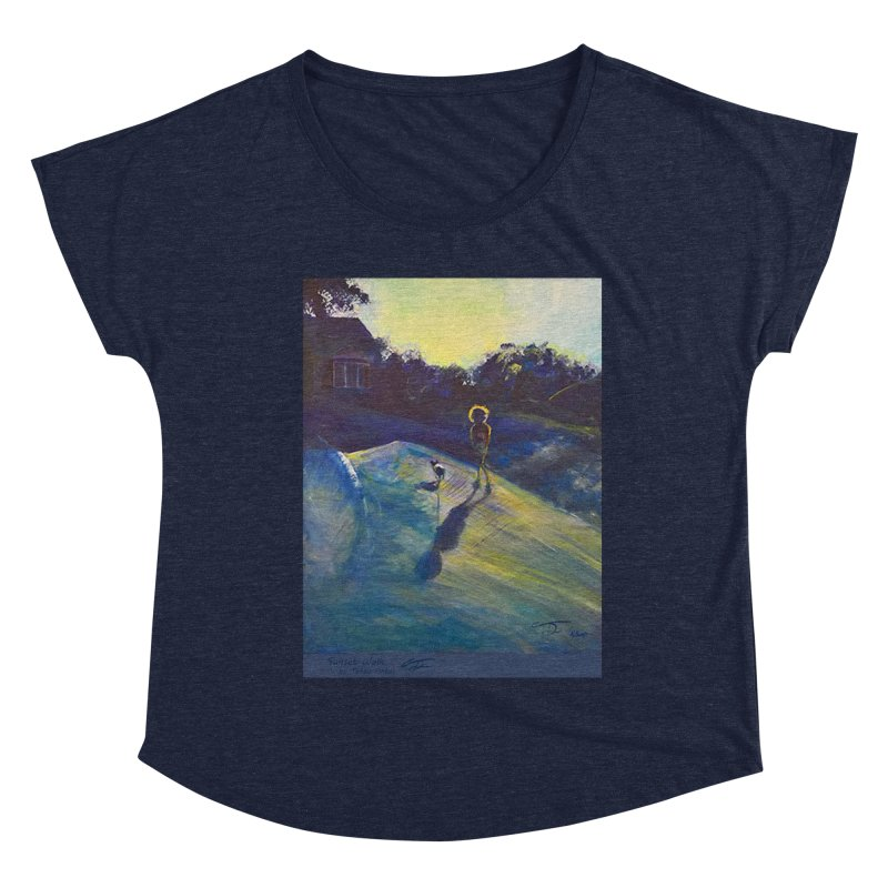 Sunset Walk Women's Scoop Neck by Tobey Finkel's Artist Shop