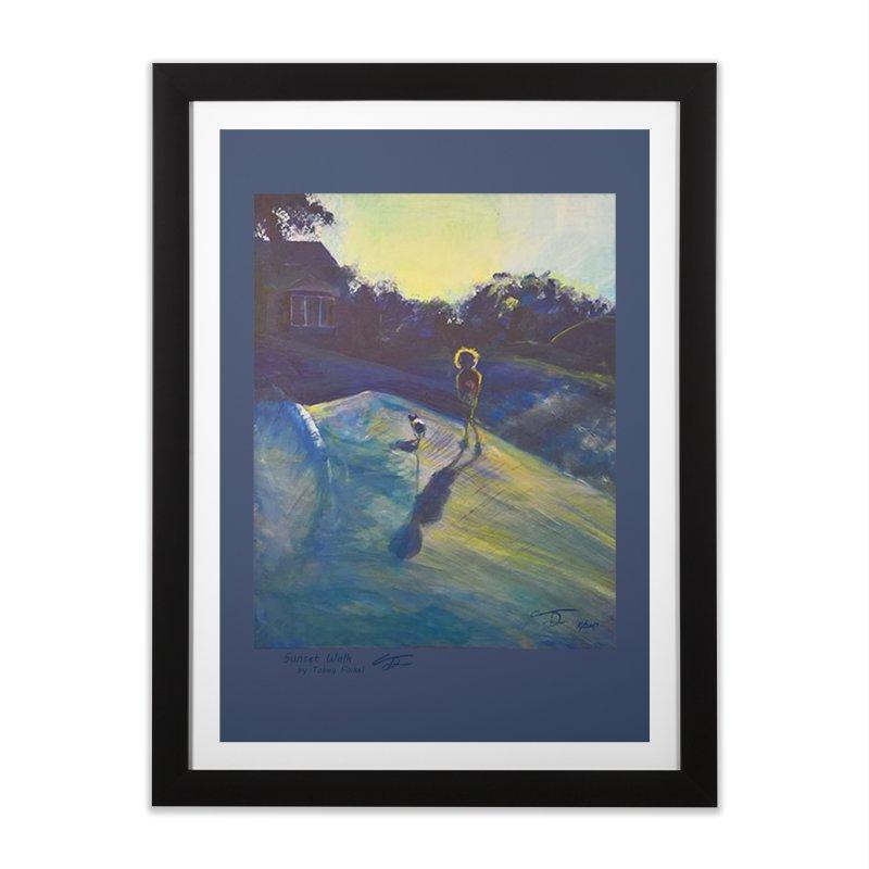 Sunset Walk Home Framed Fine Art Print by Tobey Finkel's Artist Shop