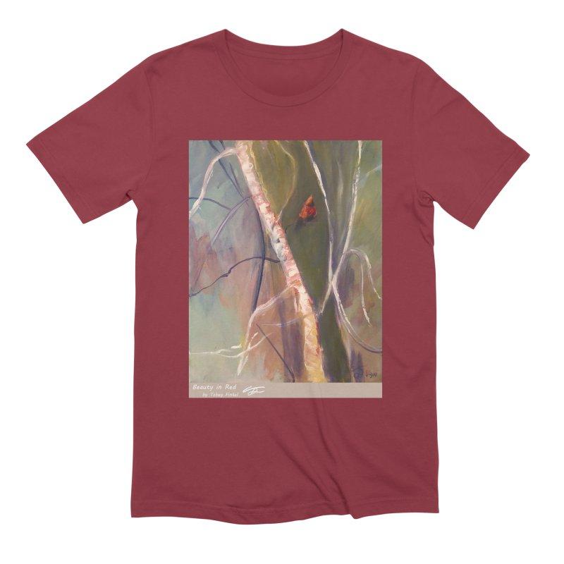Beauty in Red Men's Extra Soft T-Shirt by Tobey Finkel's Artist Shop