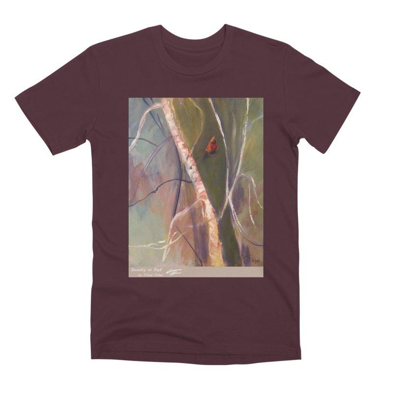 Beauty in Red Men's Premium T-Shirt by Tobey Finkel's Artist Shop