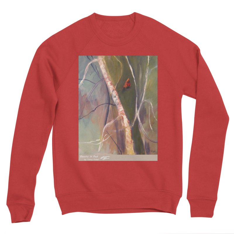 Beauty in Red Women's Sweatshirt by Tobey Finkel's Artist Shop