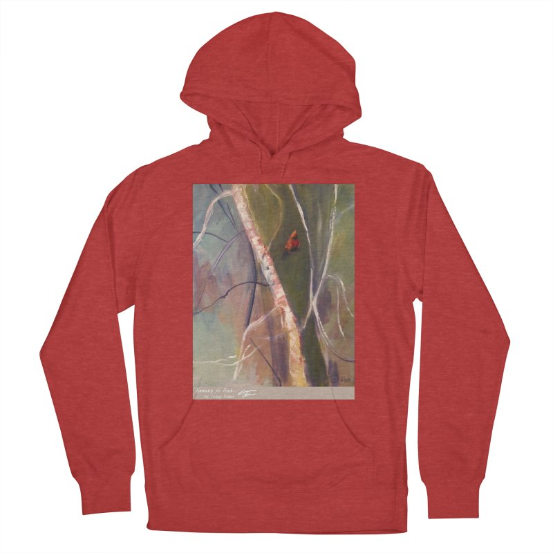 Beauty in Red Women's French Terry Pullover Hoody by Tobey Finkel's Artist Shop