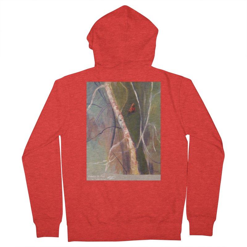Beauty in Red Women's Zip-Up Hoody by Tobey Finkel's Artist Shop