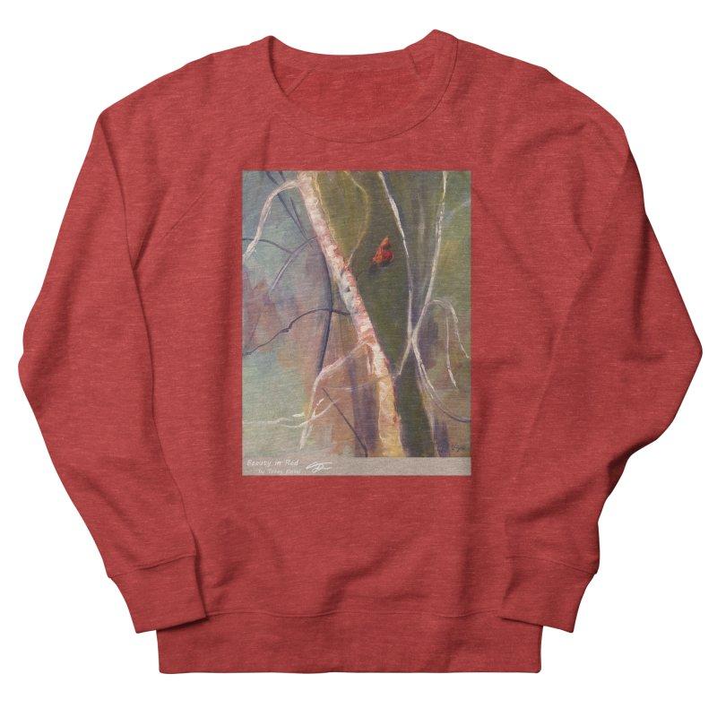 Beauty in Red Women's Sweatshirt by Tobey Finkel's Artist Shop