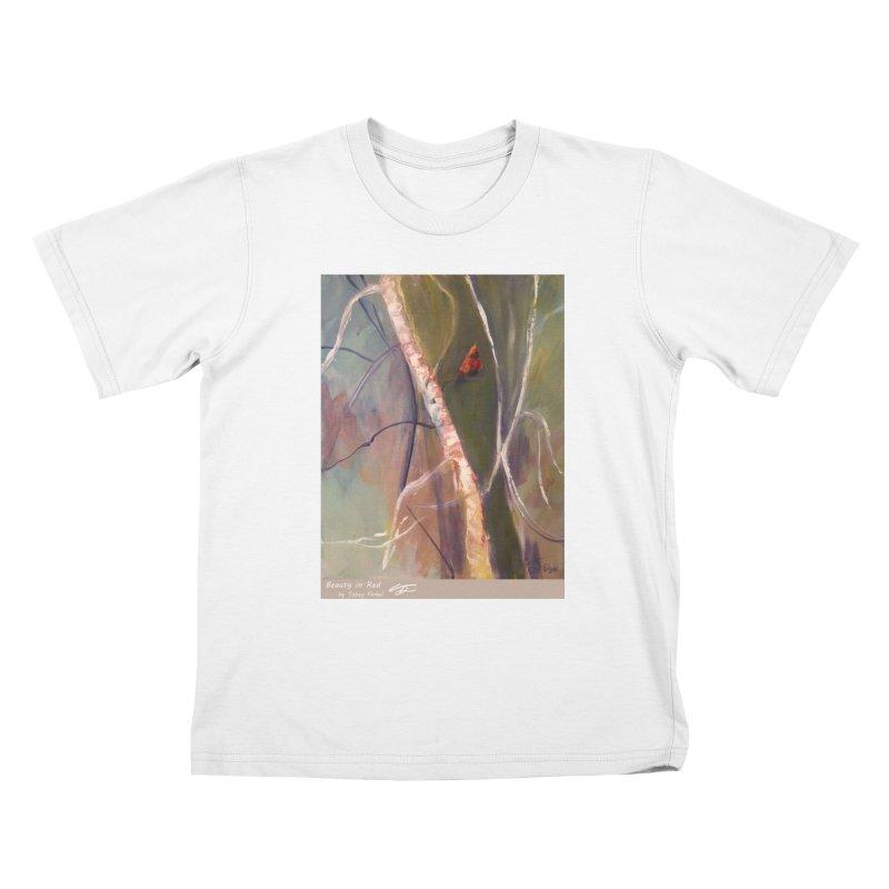 Beauty in Red Kids T-Shirt by Tobey Finkel's Artist Shop