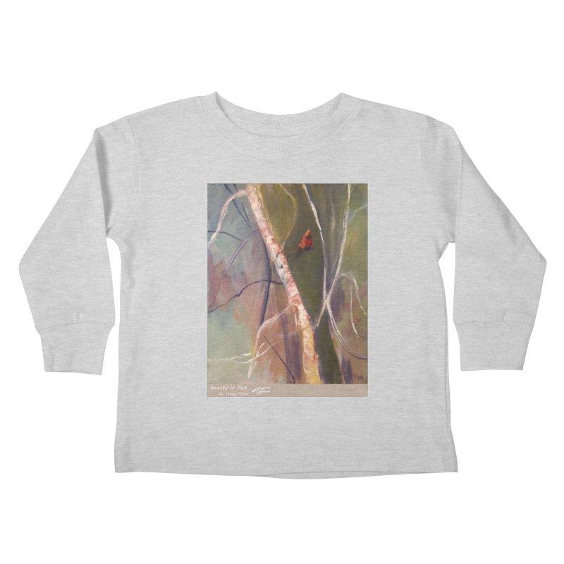 Beauty in Red Kids Toddler Longsleeve T-Shirt by Tobey Finkel's Artist Shop