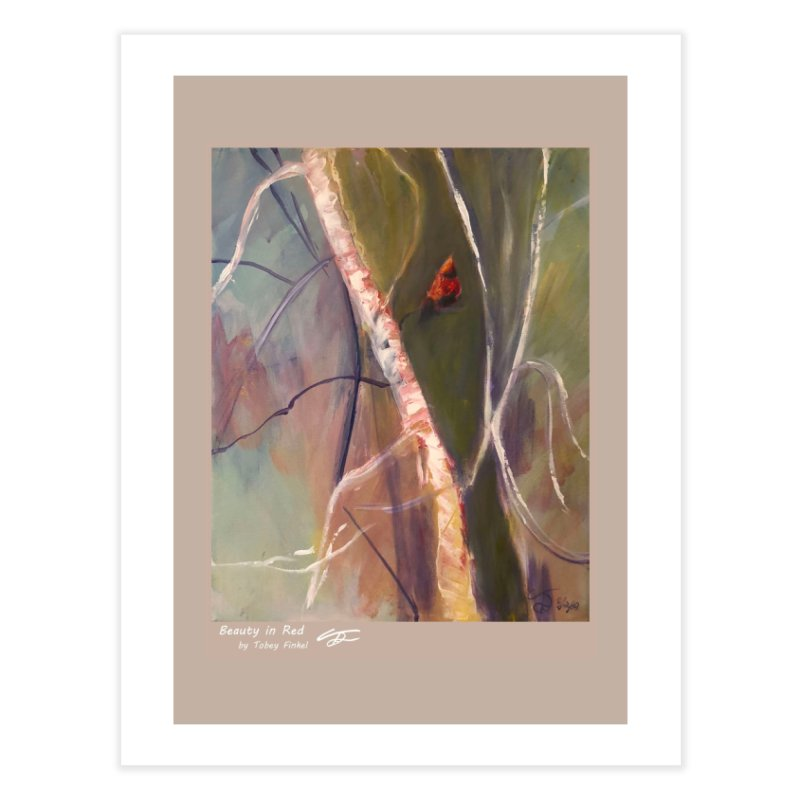 Beauty in Red Home Fine Art Print by Tobey Finkel's Artist Shop