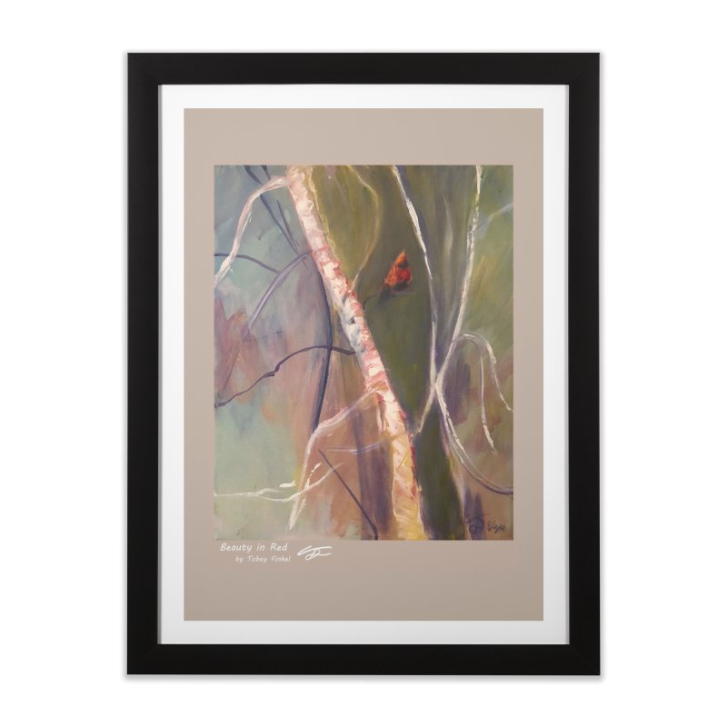Beauty in Red Home Framed Fine Art Print by Tobey Finkel's Artist Shop