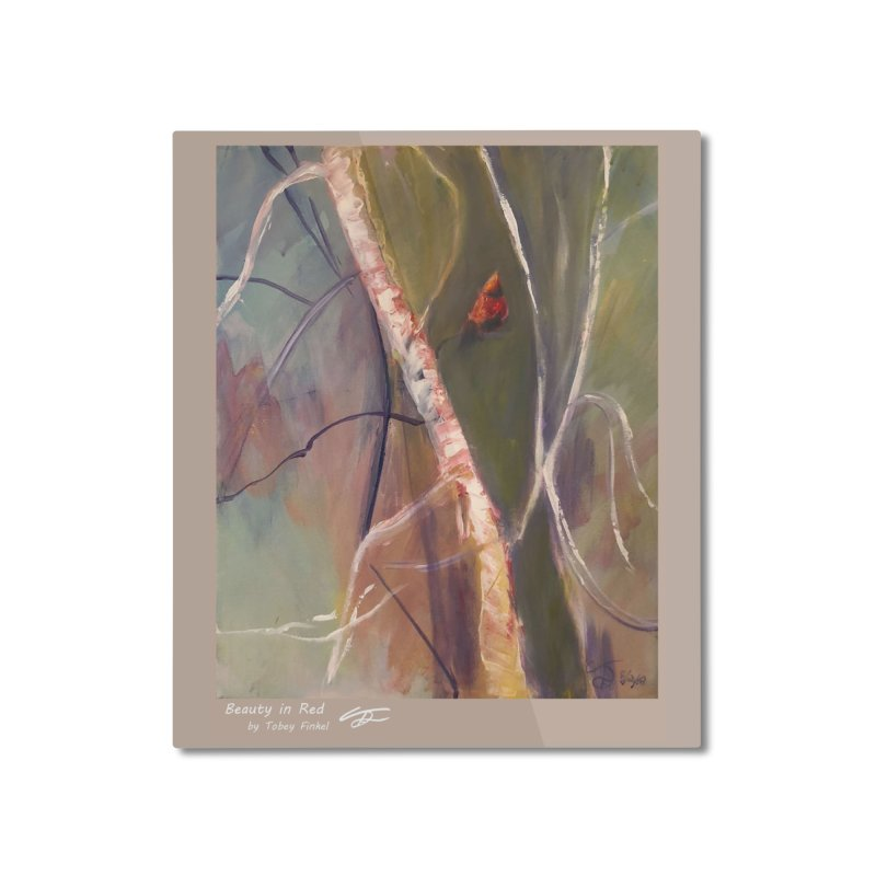 Beauty in Red Home Mounted Aluminum Print by Tobey Finkel's Artist Shop