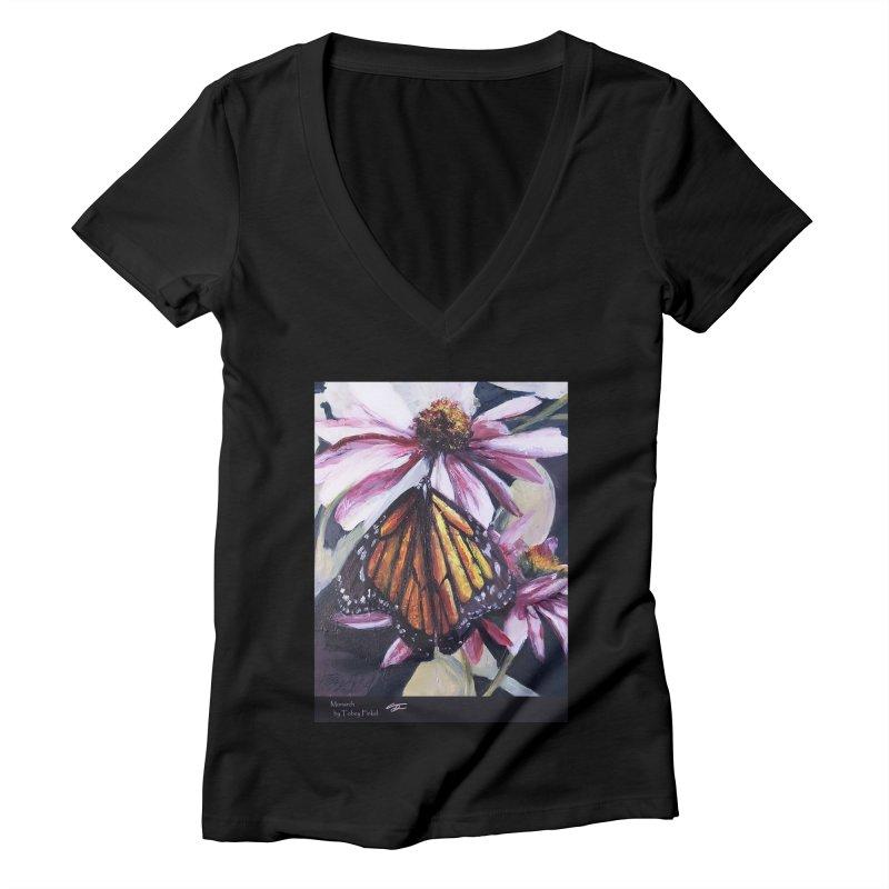 Monarch Women's V-Neck by Tobey Finkel's Artist Shop