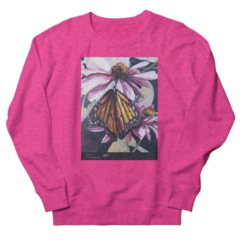 Monarch Women's French Terry Sweatshirt by Tobey Finkel's Artist Shop