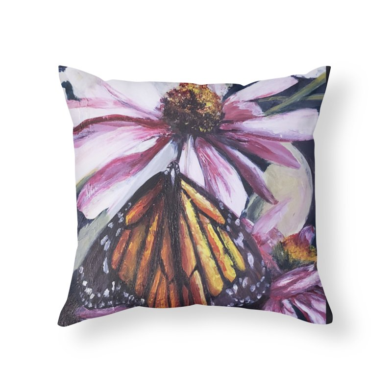 Monarch Home Throw Pillow by Tobey Finkel's Artist Shop
