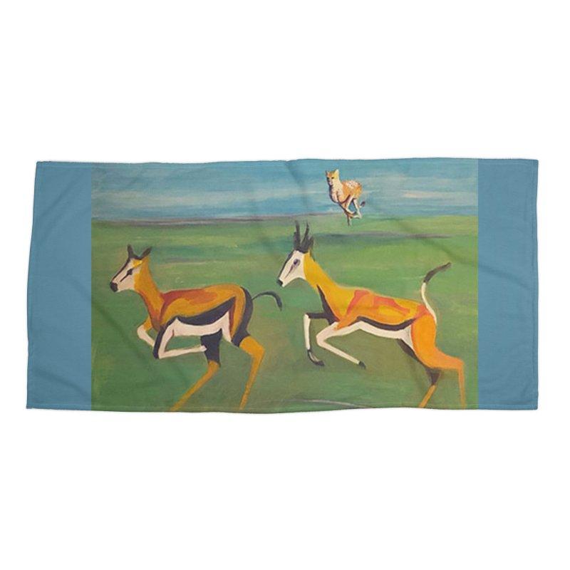 Cheetah Accessories Beach Towel by Tobey Finkel's Artist Shop