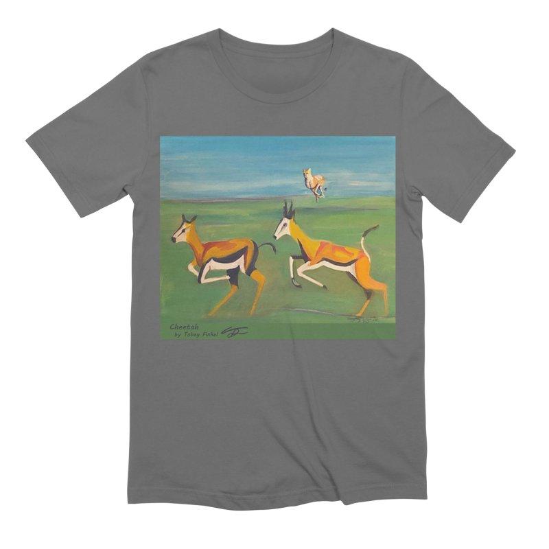 Cheetah Men's T-Shirt by Tobey Finkel's Artist Shop