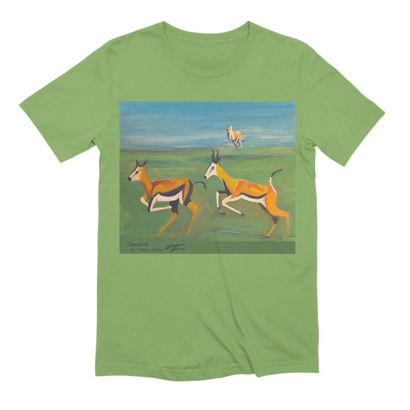 Cheetah Men's Extra Soft T-Shirt by Tobey Finkel's Artist Shop