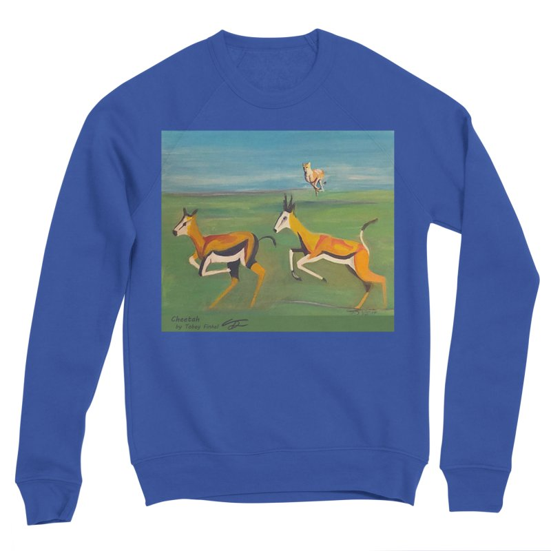 Cheetah Women's Sponge Fleece Sweatshirt by Tobey Finkel's Artist Shop