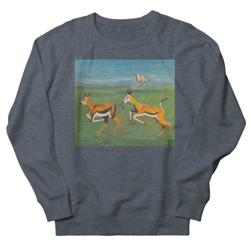 Cheetah Women's French Terry Sweatshirt by Tobey Finkel's Artist Shop