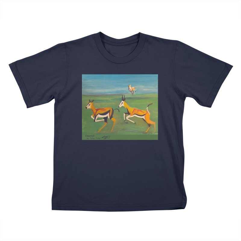 Cheetah Kids T-Shirt by Tobey Finkel's Artist Shop