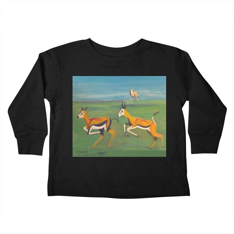 Cheetah Kids Toddler Longsleeve T-Shirt by Tobey Finkel's Artist Shop