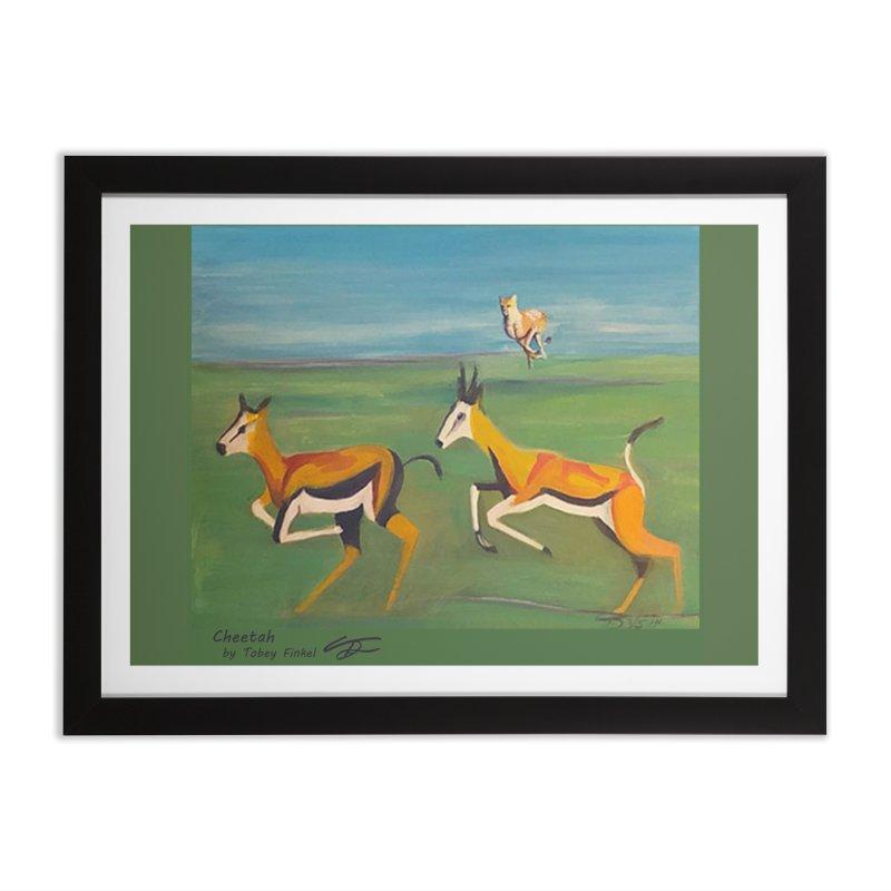 Cheetah Home Framed Fine Art Print by Tobey Finkel's Artist Shop