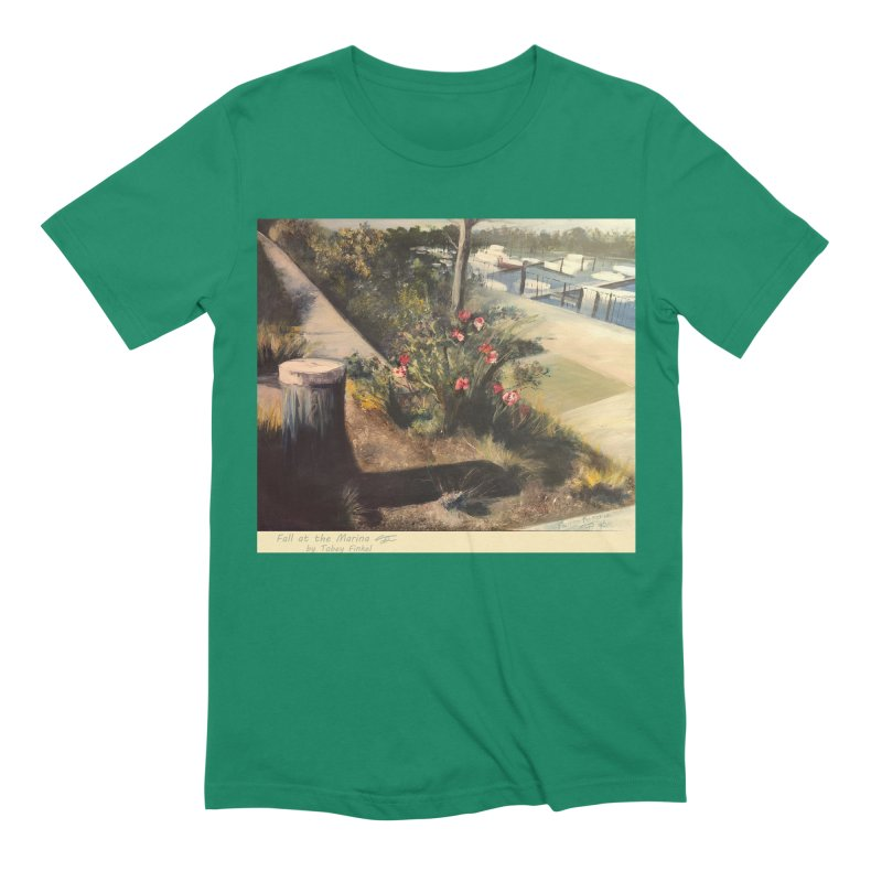 Fall at the Marina Men's Extra Soft T-Shirt by Tobey Finkel's Artist Shop