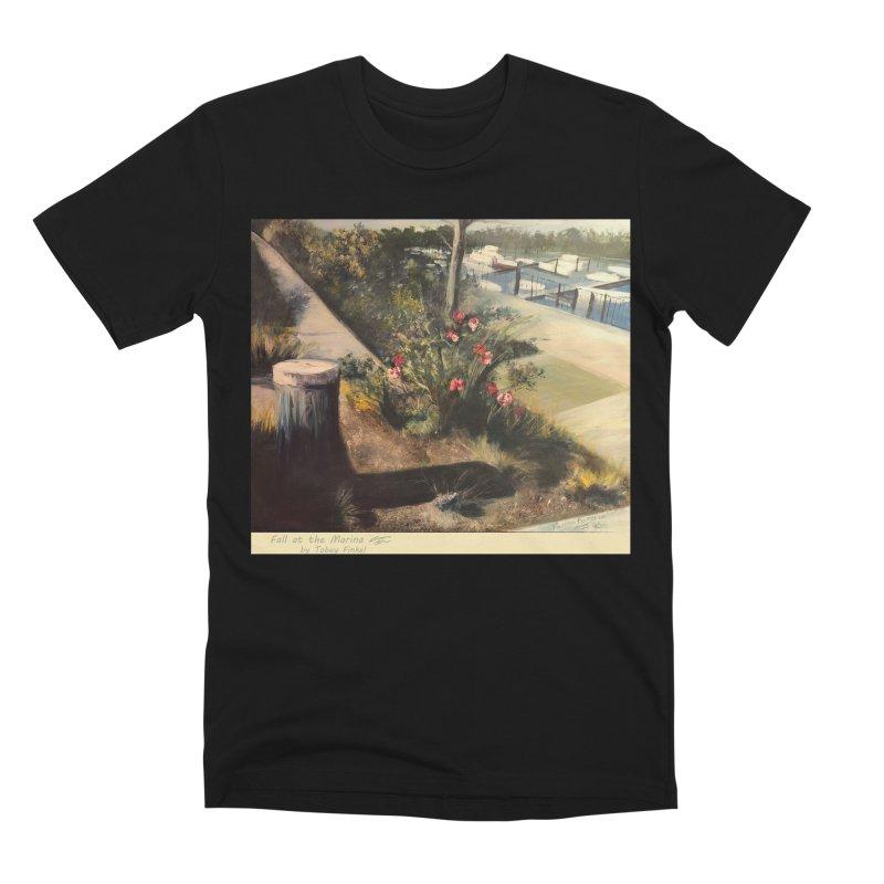 Fall at the Marina Men's Premium T-Shirt by Tobey Finkel's Artist Shop