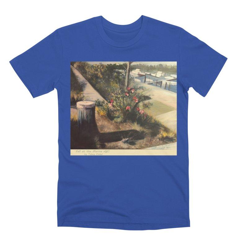 Fall at the Marina Men's T-Shirt by Tobey Finkel's Artist Shop