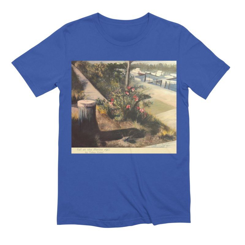 Fall at the Marina Men's T-Shirt by Tobey Finkel's Artist Shop
