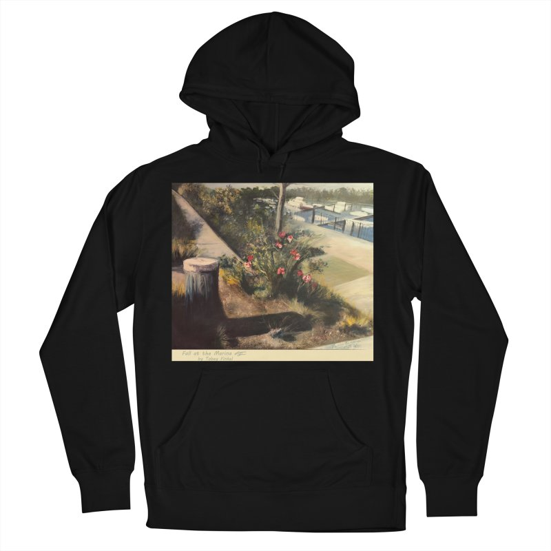 Fall at the Marina Women's French Terry Pullover Hoody by Tobey Finkel's Artist Shop