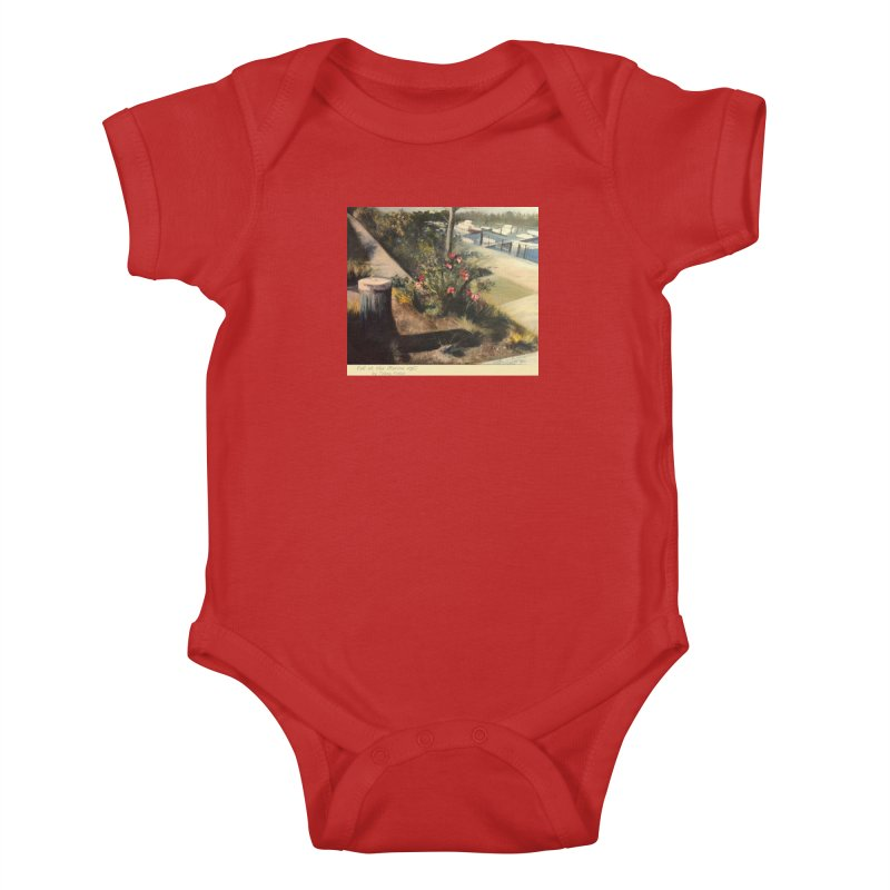 Fall at the Marina Kids Baby Bodysuit by Tobey Finkel's Artist Shop