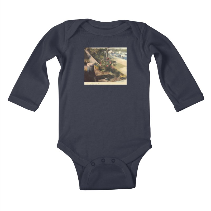 Fall at the Marina Kids Baby Longsleeve Bodysuit by Tobey Finkel's Artist Shop