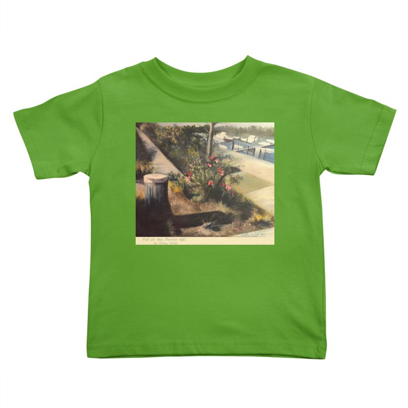 Fall at the Marina Kids Toddler T-Shirt by Tobey Finkel's Artist Shop