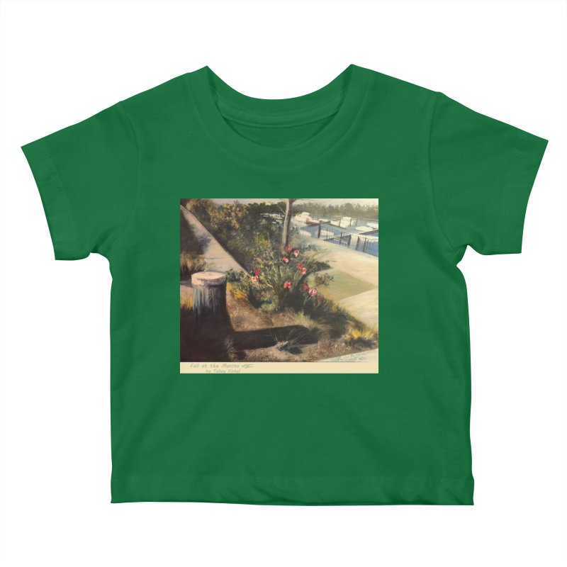 Fall at the Marina Kids Baby T-Shirt by Tobey Finkel's Artist Shop