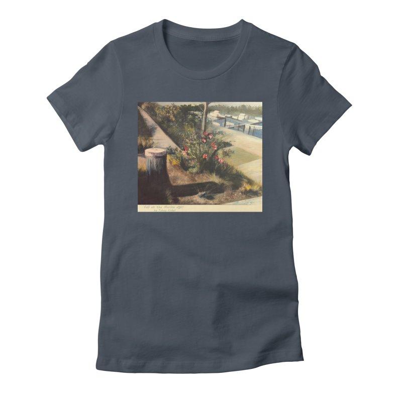 Fall at the Marina Women's T-Shirt by Tobey Finkel's Artist Shop