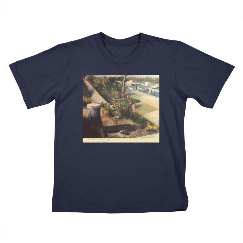 Fall at the Marina Kids T-Shirt by Tobey Finkel's Artist Shop
