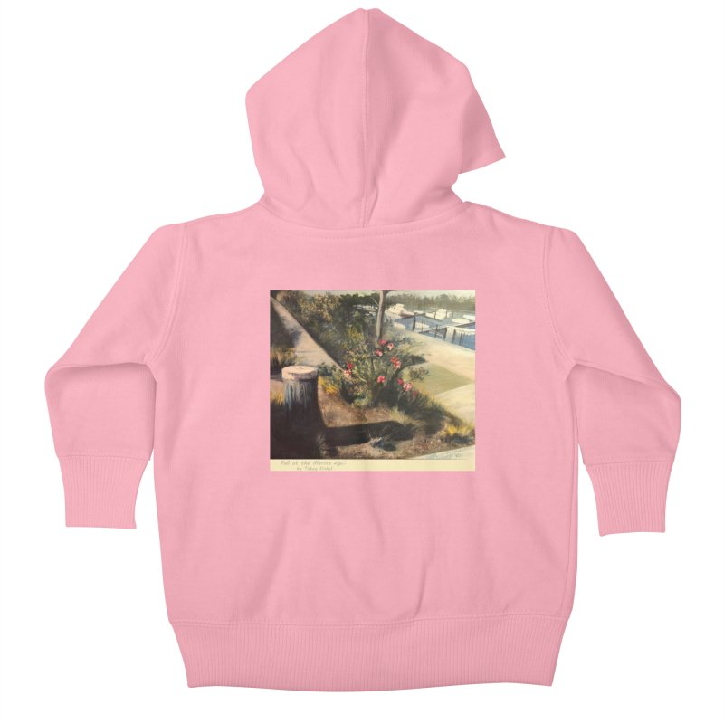 Fall at the Marina Kids Baby Zip-Up Hoody by Tobey Finkel's Artist Shop