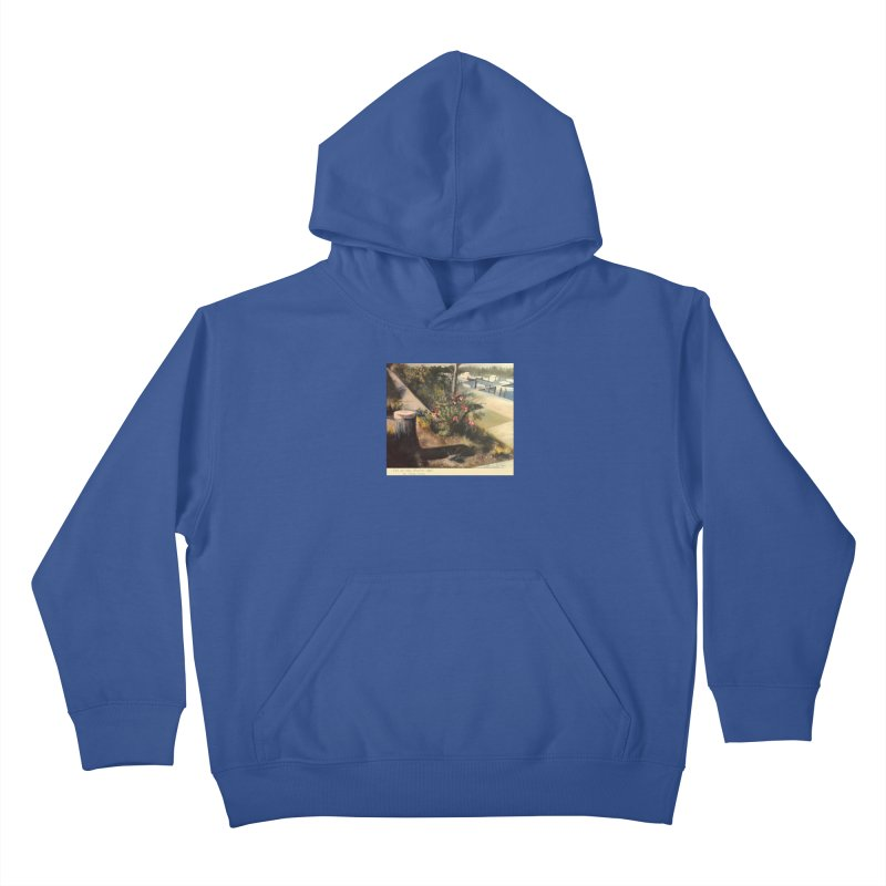 Fall at the Marina Kids Pullover Hoody by Tobey Finkel's Artist Shop