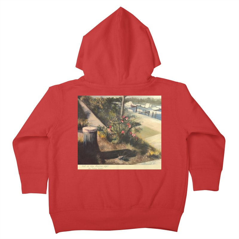 Fall at the Marina Kids Toddler Zip-Up Hoody by Tobey Finkel's Artist Shop