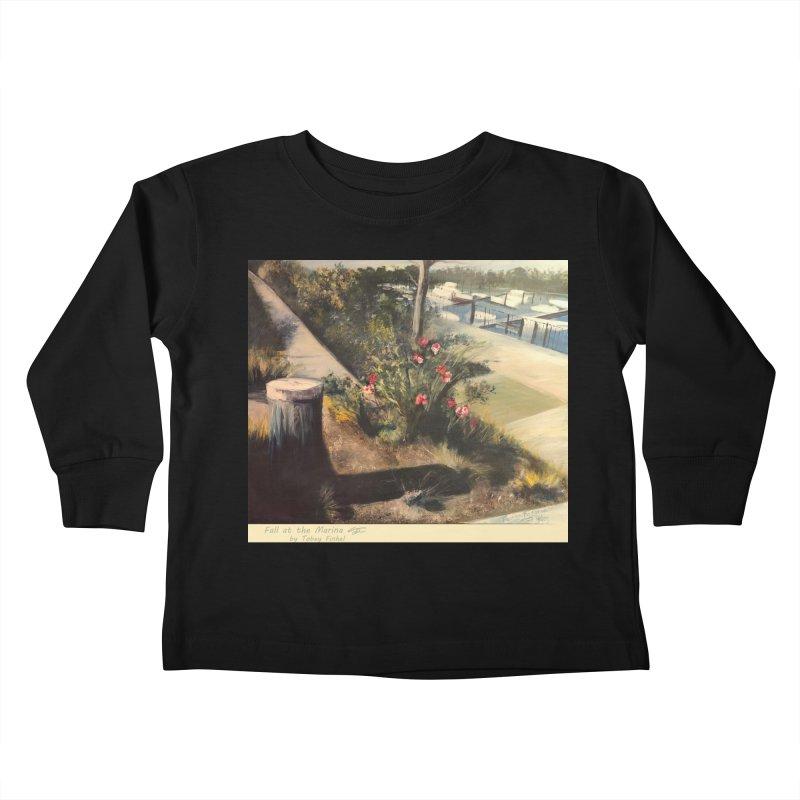 Fall at the Marina Kids Toddler Longsleeve T-Shirt by Tobey Finkel's Artist Shop